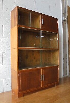 Antique Vintage Sectional Oak Minty Library Bookcase 4 Sections.