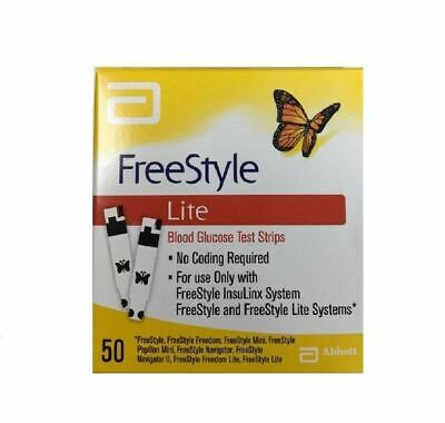 FreeStyle Lite 50 Blood Glucose Test Strips 1 2 3 6 Packs
