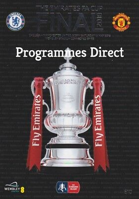 FA CUP FINAL 2018  CHELSEA v MAN UTD MINT PROGRAMME MANCHESTER UNITED FREE EXTRA