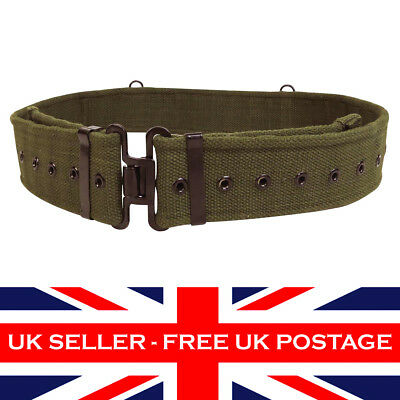 58 Pattern Olive Green British Belt Army Sea Cadet ATC Military Webbing Uniform