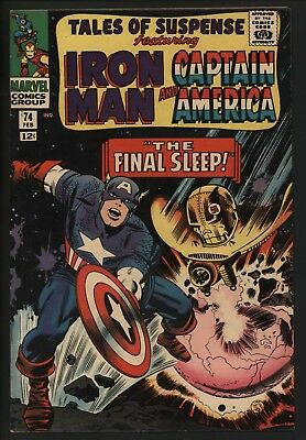 Tales Of Suspense #74  Great Cover! Cap America Vs The Sleepers. + Iron Man