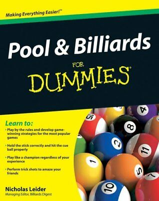 Pool and Billiards For Dummies by Nicholas Leider 9780470565537