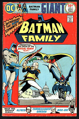 Batman Family #1 Sep/oct 1975. Cents Copy, Off White Pages!