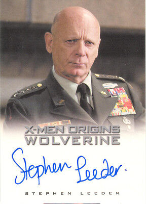"X-Men Origins Wolverine - Stephen Leeder as ""General Muson"" Autograph Card"