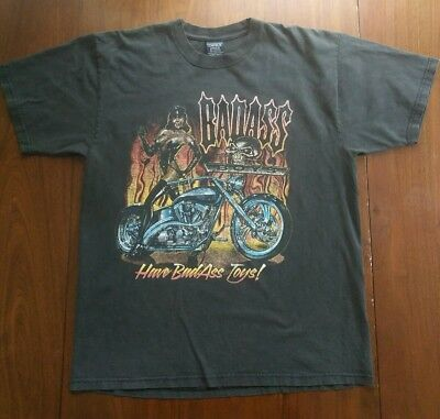 Sturgis 2004 t shirt Bad Boys Bad Toys Black Large Biker Harley
