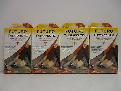 4 Futuro Therapeutic Open Toe Knee Length Men & Women Large Firm Beige Nt 1754