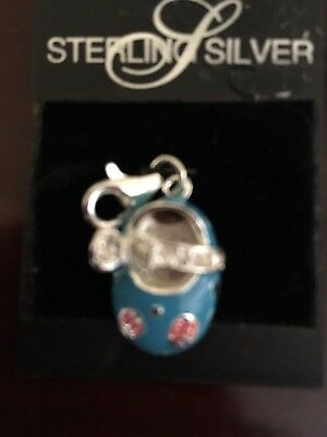 New Vtg Sterling Silver Blue with Red Lady Busgs Baby Shor