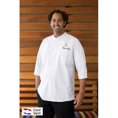Chef Works Positano Chef Coat Jacket - White - All Sizes - Cool Vent