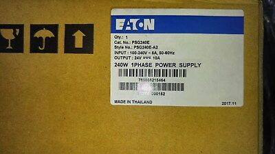 EATON CUTLER HAMMER PSG240E 240W Single Phase 100-240V In 24VDC Out NEW SEALED