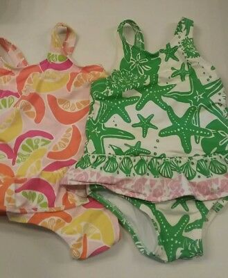 Lilly Pulitzer baby girl swimsuit 18-24 months, lot of 2