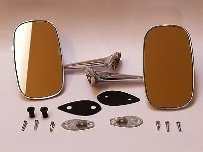 1975-79 C3 Chevy Corvette Repro Outside Exterior Rear View Mirrors -LH & RH/Pair