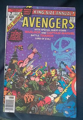 The Avengers King Size Annual #7 1977 8.0 - Thanos Warlock Infinity Stones