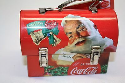 Coca Cola Santa Dome Top Mini Carry All by TIN BOX New with tags