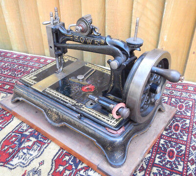 RARE ANTIQUE ELIAS HOWE STOCKWELL BROTHERS SEWING MACHINE C.1870 REG No 853751
