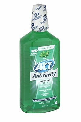 ACT Anticavity Rinse, Mint, 33.8 oz (6 Pack)