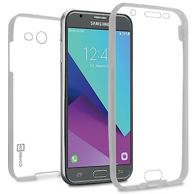 For Samsung Galaxy J3 Mission Case Slim Fit Full Body Soft TPU Phone Cover Clear