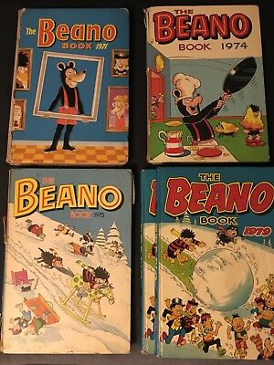 Vintage Beano, Beezer & Dandy annuals from 1971-82. 12 in total & extra 79 Beano