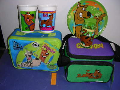 Scooby-Doo Set LUNCH BOXES - Thermos - &  BONUS! Cup, mugs & MORE #B3e