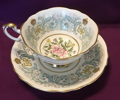 1953 Vintage Paragon Cup and Saucer Queen Elizabeth Coronation 1953 Bone China