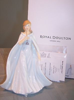 Royal Doulton Songs of Christmas Pretty Ladies Silent Night NIB HN5700 choir