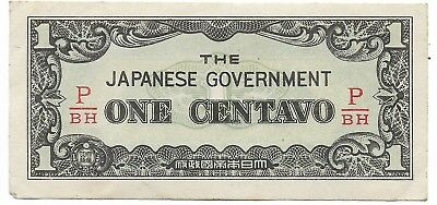 Rare Very Old Japanese WWII Japan War 1 Centavos Bill WW2 Collection Bank Note