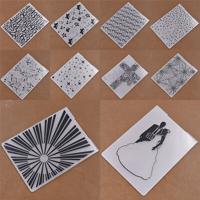 Plastic Embossing Folder DIY Template Scrapbooking Paper Cards HandCrafts Tools