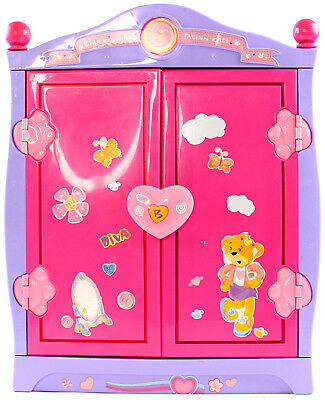 Build A Bear Beararmoire Fashion Case Closet Wardrobe Case Armoire Pink  Lavender