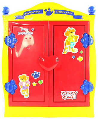 Build A Bear Beararmoire Fashion Case Closet Wardrobe Case Armoire Yellow  Red Bl