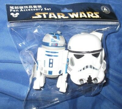 STAR WARS Disney Shanghai Exclusive Pen/Pencil Topper ~STORMTROOPER & R2-D2