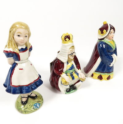 Lot Of 3 Beswick 1974 Royal Doulton Rare Alice In Wonderland Porcelain Figurines