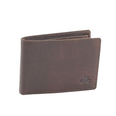 Genuine Men's Rugged Leather Small Slim RFID Wallet
