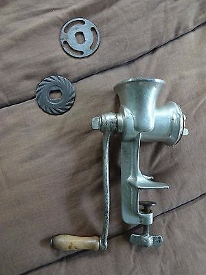 Vintage Challenge Meat Food Grinder With Three Cutters (One Two-Sided)