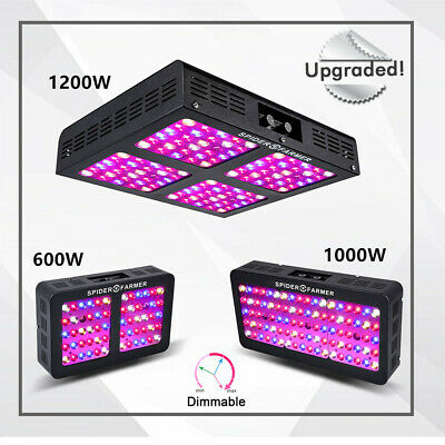 Spider Farmer Dimmable LED Grow Light 300W 450W 600W Full Spectrum Indoor Plants