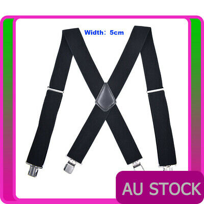 50mm 20s Gangster Gatsby Suspenders Braces 1920s Mens Womens Unisex Elastic