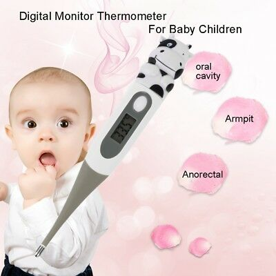 Cute Animals Diagnostic Digital Monitor Thermometer Oxter For Baby Children DE