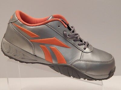 a3619547acdc Reebok RB453 Women s Size 8.5 M Composite Toe Work Safety Shoes Silver  Orange