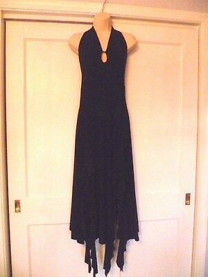 Gorgeous Unique Unyx Black Maxi Halter Dress W/ Slits And Ruffles; Size S;$22.99