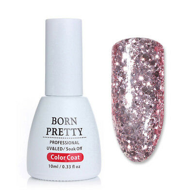 BORN PRETTY 10ml Nail UV Gel Polish Glitter Soak Off Gel Varnish Nail Art Decor