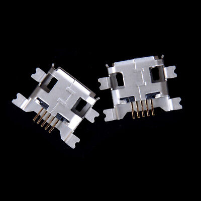 20pcs 5pin Female Micro USB Connector 4 feet Jack Socket SMD Charging WL