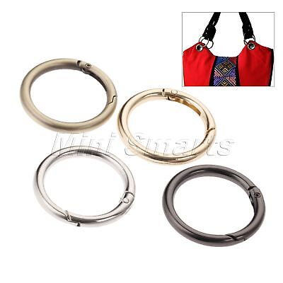 5pcs 4 Colour O Rings Openable Leather Bag Belt Strap Dog Chain Buckle Keyring