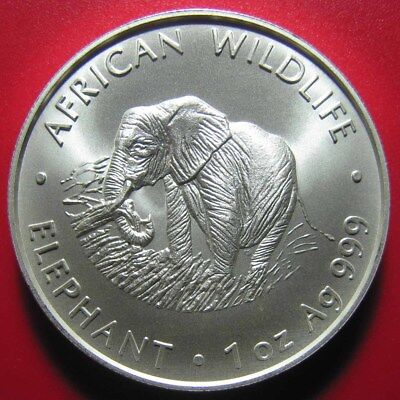 2000 ZAMBIA 5000 KWACHA 1oz SILVER ELEPHANT AFRICAN WILDLIFE RARE! CROWN 39mm