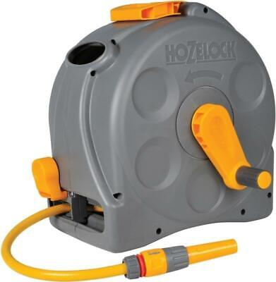 Hozelock 2-in-1 Compact Enclosed Hose Reel with 25 m Hose and Connectors 2415