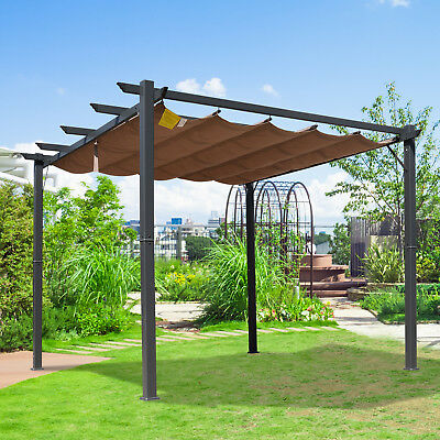outsunny pergola pavillon berdachung mit schiebedach. Black Bedroom Furniture Sets. Home Design Ideas