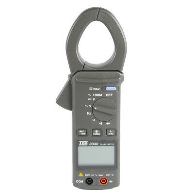 TES-3040 AC Clamp Meter Digital Multimeter Resistance