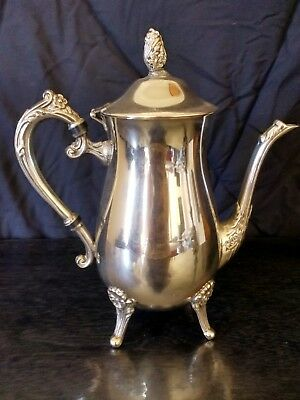Vintage Silver Plated Coffee Pot Starting At $1 No Reserve Immaculate!!!