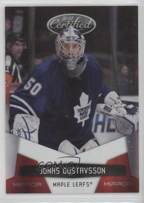 2010 Certified Mirror Red #135 Jonas Gustavsson Toronto Maple Leafs Hockey Card