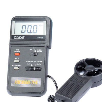 AVM-03 Anemometer Sensitive for low/high air velocity Ergonomic Design