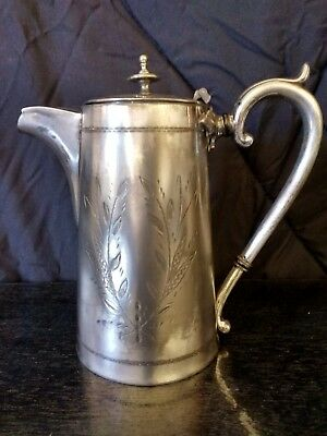 Rare Vintage Walter Oxley Sheffield Coffee Pot Starting At $1 No Reserve!