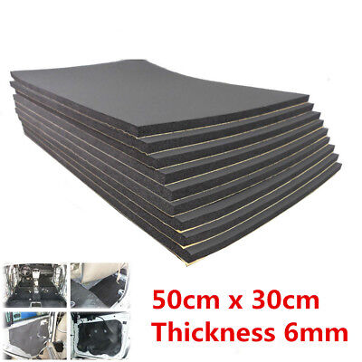 9Pcs 6mm Car SUV Sound Proofing Insulation Cotton 10mm Closed Cell Foam 30×50cm