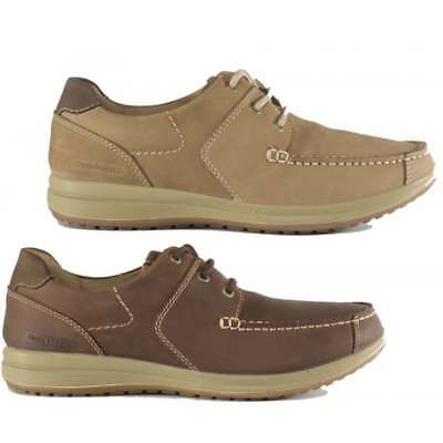 Hush Puppies RUNNER Mens Leather Casual Comfort Low Top Moccasin Deck Boat Shoes